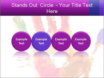 Colored hand PowerPoint Template - Slide 76