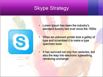 Colored hand PowerPoint Template - Slide 8