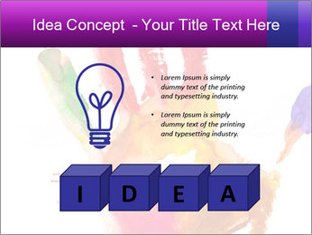 Colored hand PowerPoint Template - Slide 80