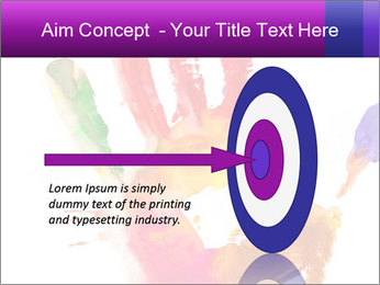 Colored hand PowerPoint Template - Slide 83