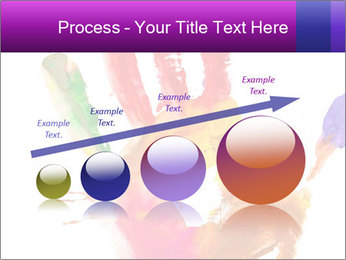 Colored hand PowerPoint Template - Slide 87