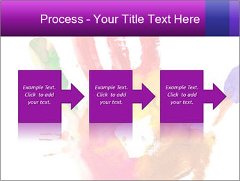 Colored hand PowerPoint Template - Slide 88