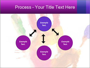 Colored hand PowerPoint Template - Slide 91