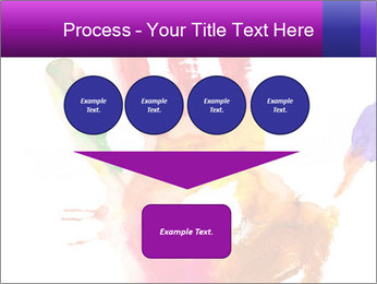 Colored hand PowerPoint Template - Slide 93