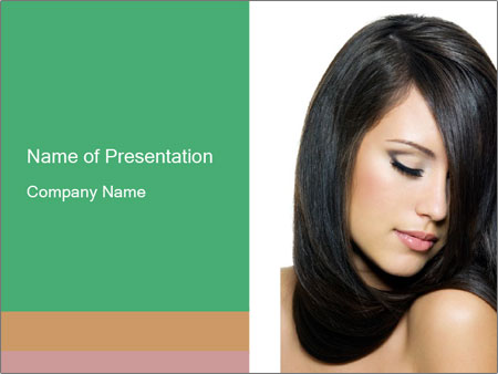 Beautiful young brunette woman PowerPoint Templates