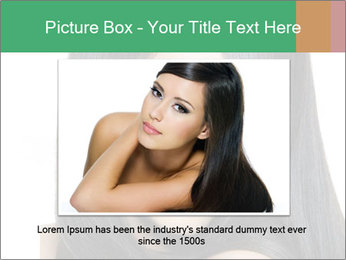 Beautiful young brunette woman PowerPoint Templates - Slide 15
