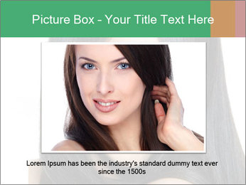 Beautiful young brunette woman PowerPoint Templates - Slide 16