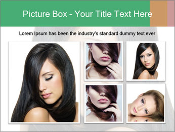 Beautiful young brunette woman PowerPoint Templates - Slide 19