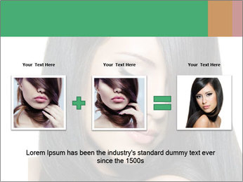 Beautiful young brunette woman PowerPoint Templates - Slide 22