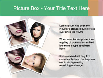 Beautiful young brunette woman PowerPoint Templates - Slide 23