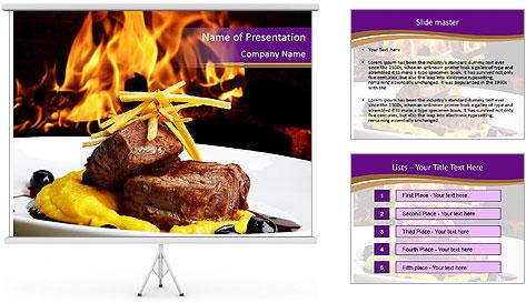 Filet mignon PowerPoint Template