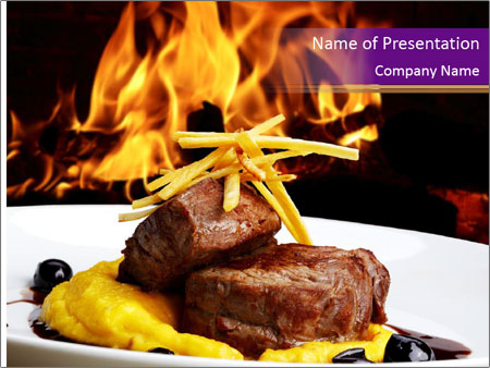 Filet mignon PowerPoint Templates