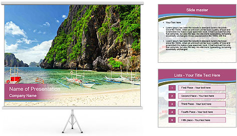 Tropical sea PowerPoint Template
