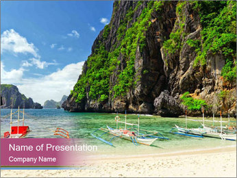 Tropical sea PowerPoint Template - Slide 1