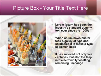 Canapes with cured ham PowerPoint Templates - Slide 13