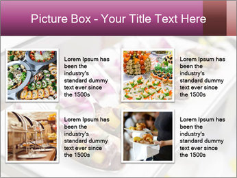 Canapes with cured ham PowerPoint Templates - Slide 14