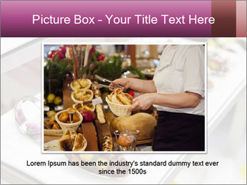 Canapes with cured ham PowerPoint Templates - Slide 15