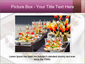 Canapes with cured ham PowerPoint Templates - Slide 16