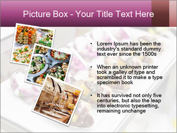 Canapes with cured ham PowerPoint Templates - Slide 17