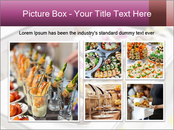 Canapes with cured ham PowerPoint Templates - Slide 19