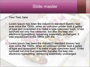 Canapes with cured ham PowerPoint Templates - Slide 2