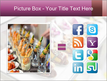 Canapes with cured ham PowerPoint Templates - Slide 21