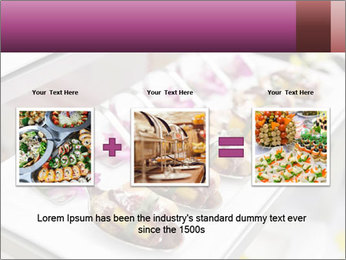 Canapes with cured ham PowerPoint Templates - Slide 22