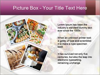 Canapes with cured ham PowerPoint Templates - Slide 23