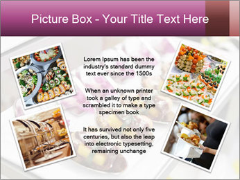 Canapes with cured ham PowerPoint Templates - Slide 24