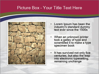 Grunge plaster wall white sofa PowerPoint Templates - Slide 13