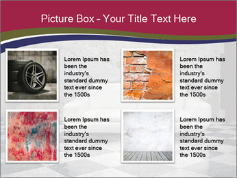 Grunge plaster wall white sofa PowerPoint Templates - Slide 14
