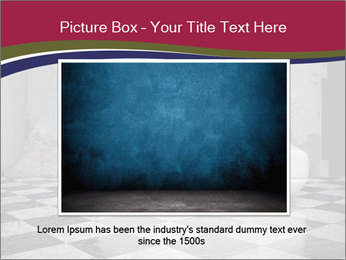 Grunge plaster wall white sofa PowerPoint Templates - Slide 15