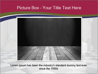 Grunge plaster wall white sofa PowerPoint Templates - Slide 16