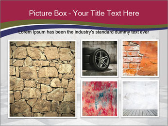 Grunge plaster wall white sofa PowerPoint Templates - Slide 19