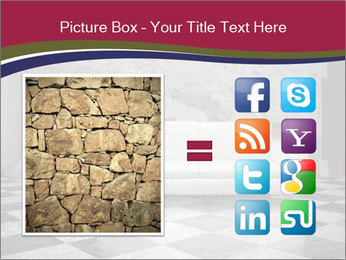 Grunge plaster wall white sofa PowerPoint Templates - Slide 21