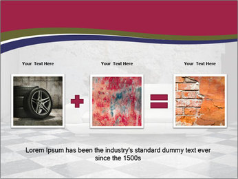 Grunge plaster wall white sofa PowerPoint Templates - Slide 22