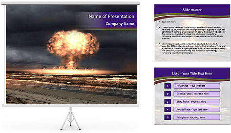 Nuclear explosion PowerPoint Template