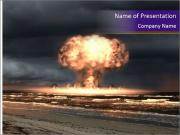 Nuclear explosion PowerPoint Templates