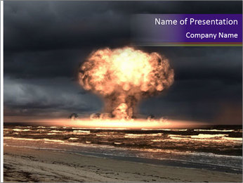 Nuclear explosion PowerPoint Template - Slide 1