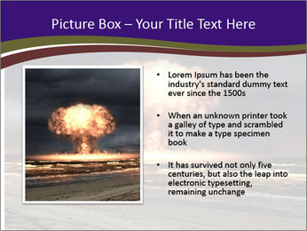 Nuclear explosion PowerPoint Template - Slide 13