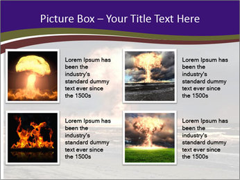Nuclear explosion PowerPoint Template - Slide 14