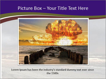 Nuclear explosion PowerPoint Template - Slide 16