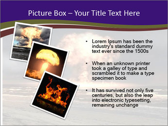 Nuclear explosion PowerPoint Template - Slide 17