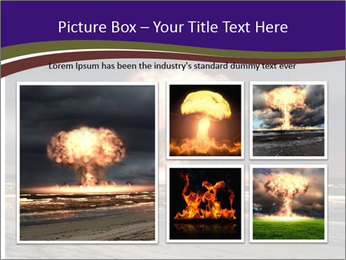 Nuclear explosion PowerPoint Template - Slide 19