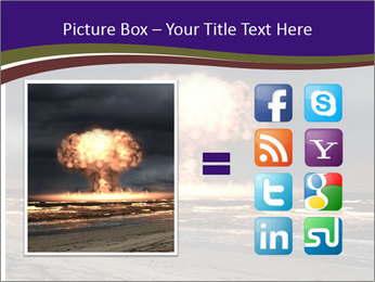Nuclear explosion PowerPoint Template - Slide 21