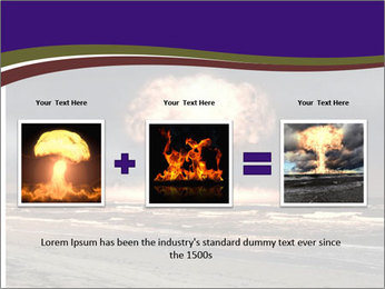 Nuclear explosion PowerPoint Template - Slide 22