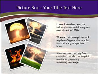 Nuclear explosion PowerPoint Template - Slide 23