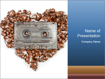 Cassette PowerPoint Template - Slide 1