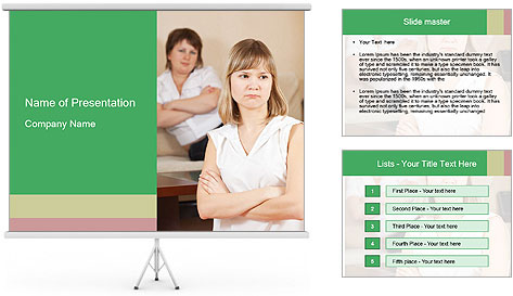 Two young women PowerPoint Template