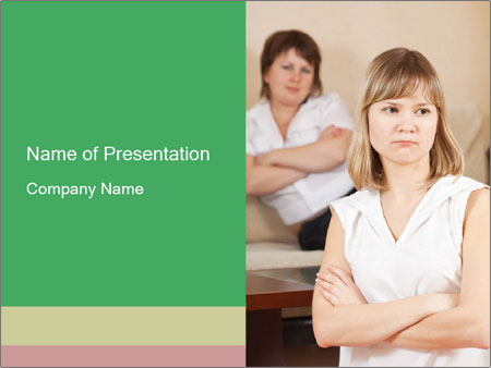 Two young women PowerPoint Templates